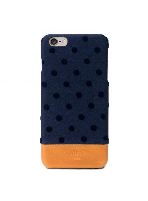iPhone 6s Plus Denim Leather Case – Navy Bubble