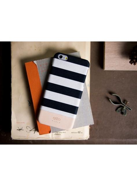 iPhone 6s Plus Denim Leather Case – White Zebra