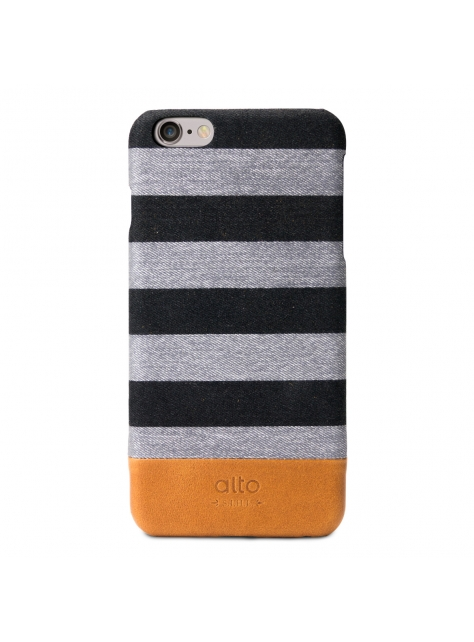 iPhone 6s Plus Denim Leather Case – Grey Zebra