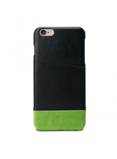 iPhone 6s Plus Metro Leather Case – Black / Green