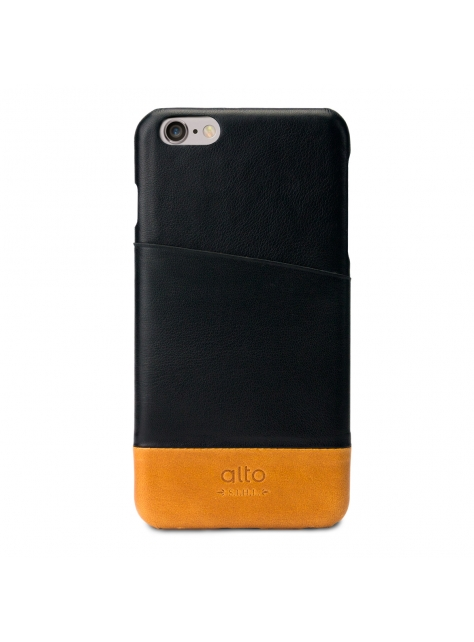 iPhone 6s Plus Metro Leather Case – Black / Light Brown
