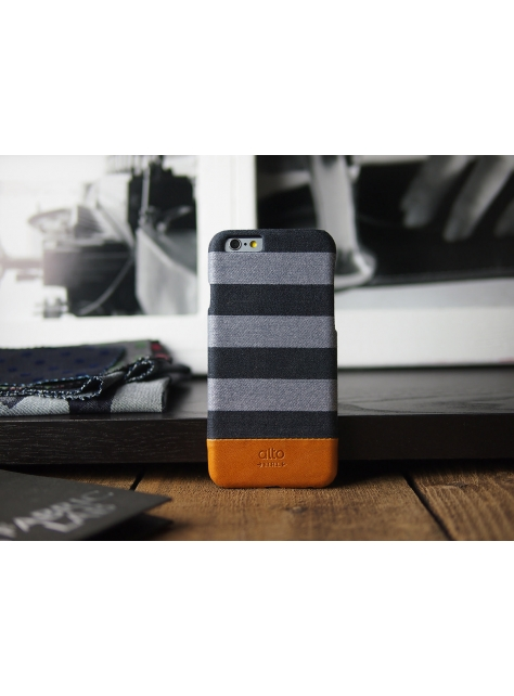 iPhone 6s Denim Leather Case – Grey Zebra
