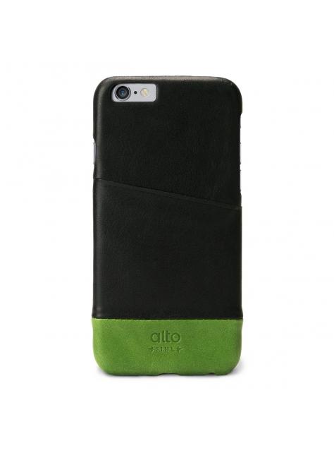 iPhone 6s Metro Leather Case – Black / Green