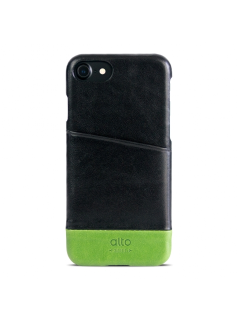 iPhone 7 Metro Leather Case – Raven/Lemon