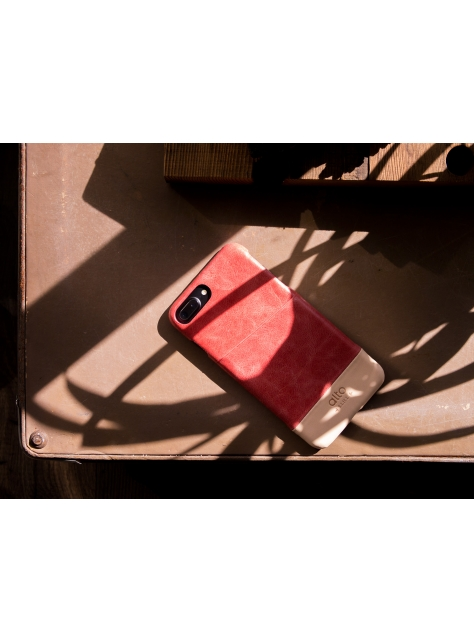 iPhone 7 Plus Metro Leather Case – Coral/Original