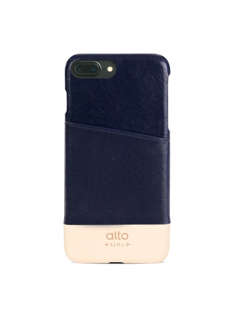 iPhone 7 Plus Metro Leather Case – Navy / Original