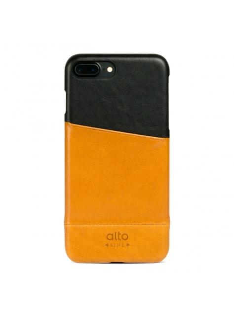 iPhone 7 Plus Metro Leather Case – Caramel/Raven