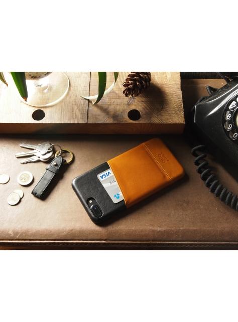 iPhone 7 Plus Metro Leather Case – Caramel/Raven
