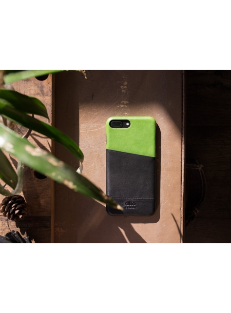 iPhone 7 Plus Metro Leather Case – Lemon/Raven