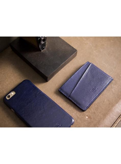 Leather Slim Card Holder – Navy