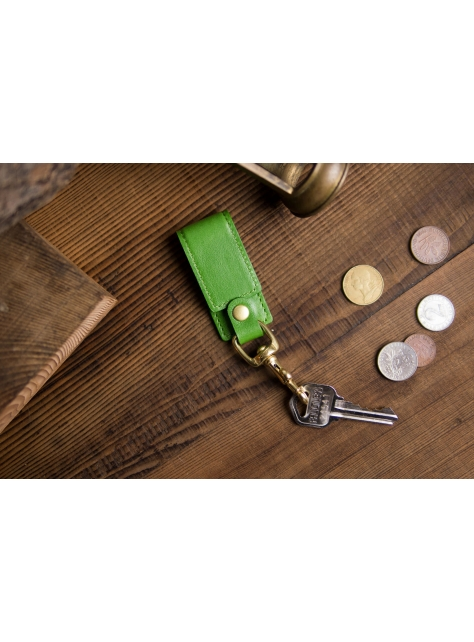 Leather Keychain Stand – Green