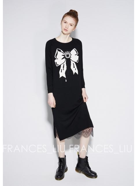 蝴蝶結羊毛洋裝