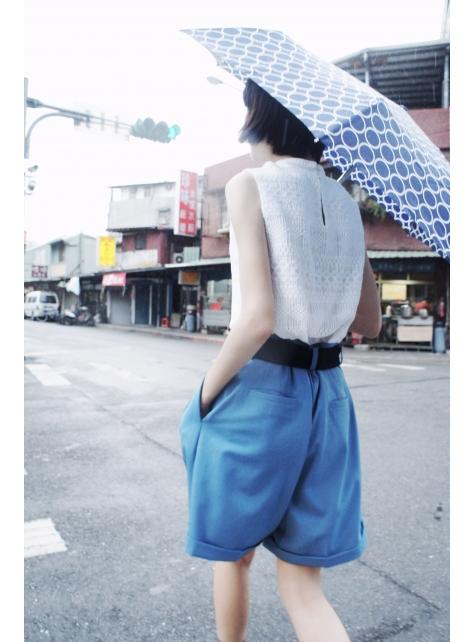 半寶石『淺藍褲裙』