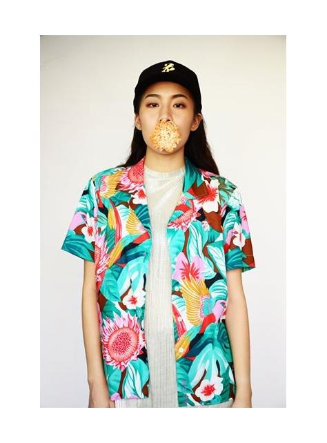 叢林布花夏威夷衫