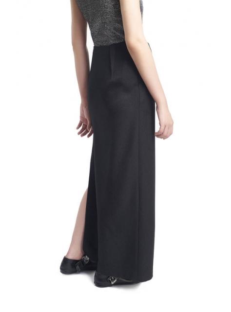 不對稱綁帶裙