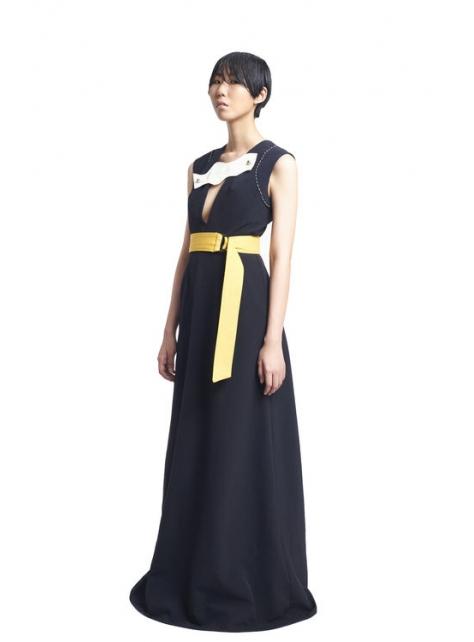 深V綁帶洋裝