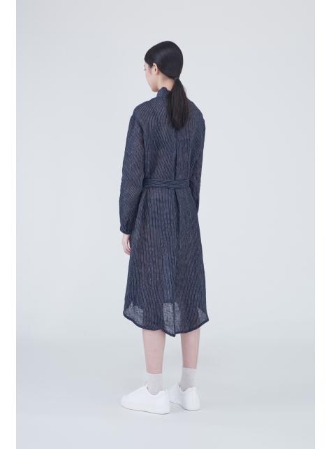 Sided wear high-necked long dress