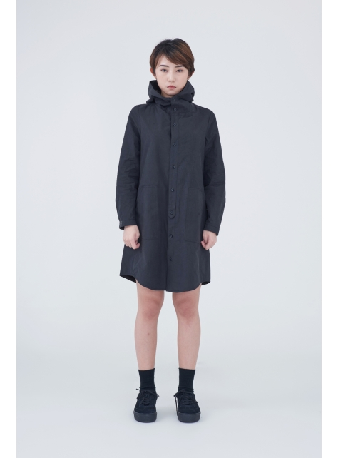 Cotton Hooded Dress