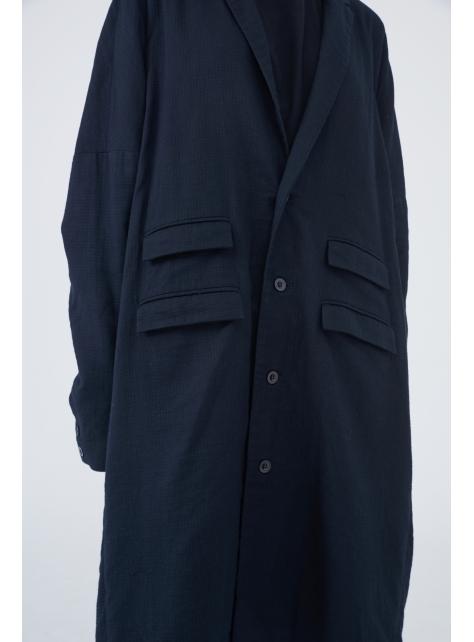 雙口袋西裝大衣