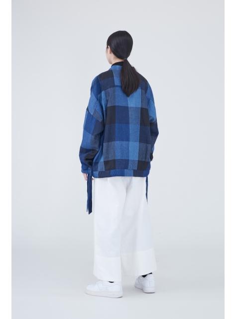 低活褶寬鬆八分褲