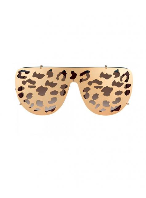 雙戴式豹紋限量墨鏡-金