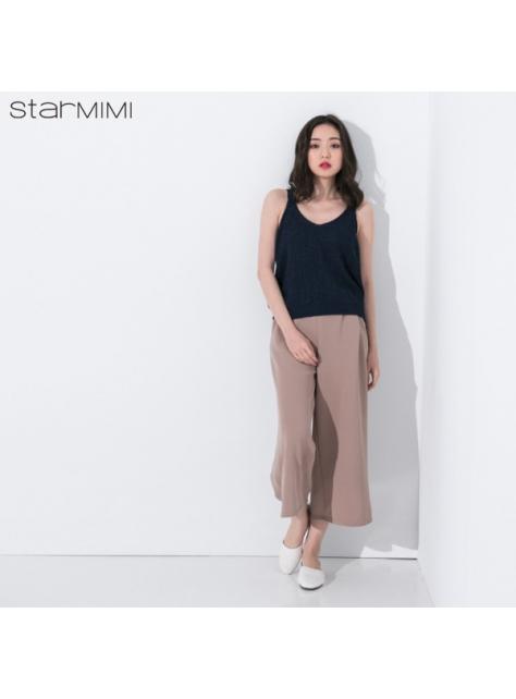 STARMIMI吊帶V領針織背心-藍