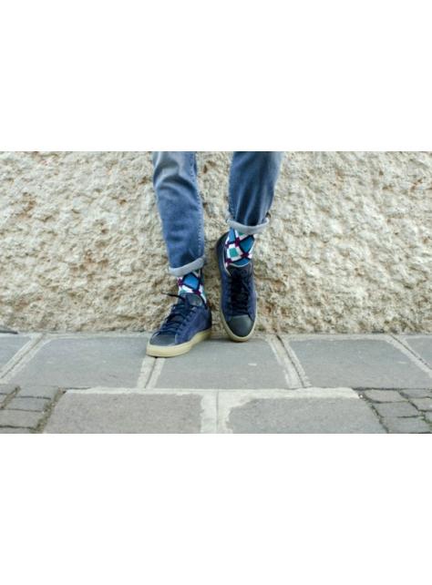 復古系列-藍色菱格紋 (RHOMBUS SOCK/RO-S01)