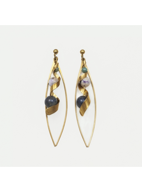 波浪耳環 - Waving-type Earrings
