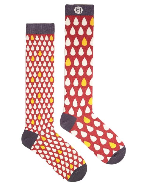 時尚膝襪系列-雨滴 Mixed Drops Knee Sock