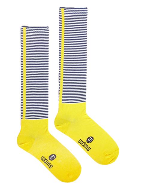 時尚膝襪系列-橫紋 Yellow Small Stripes Knee Sock
