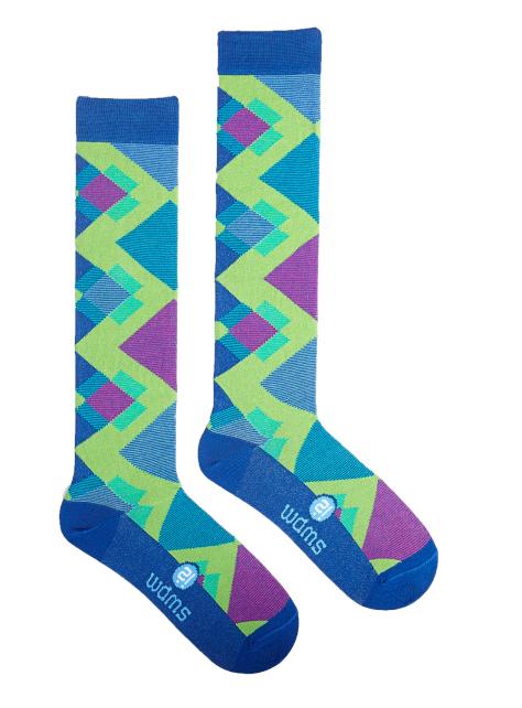 時尚膝襪系列-幾何 Green Glenn Knee Sock
