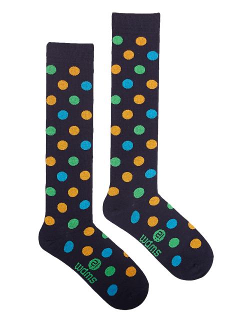時尚膝襪系列-點點 Three Navy Pois Knee Sock