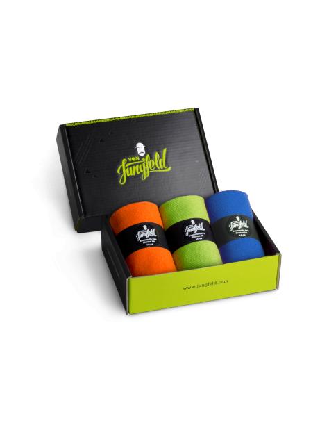 色彩組合系列-三款盒裝組合-B款 (ORANGE/GREEN/BLUE-3 PAIRS)