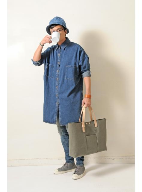 OASIS-手做皮革帆布手提/斜側揹/筆電包