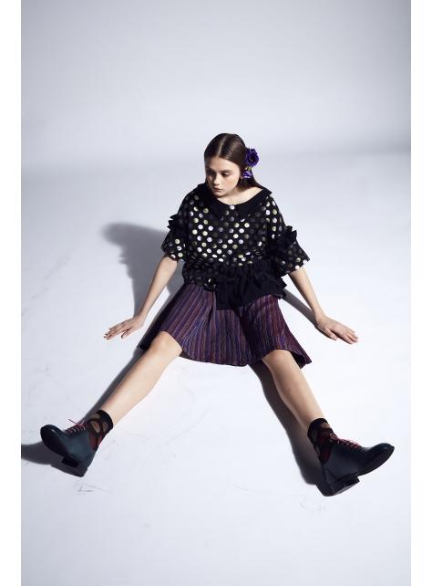 moi non plus 愛黛兒吊帶裙 - 義大利面料 - 紫