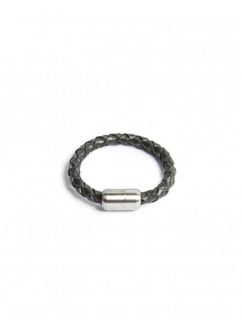 磁扣真皮編織手環
