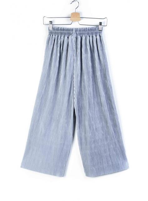 夏季涼感百褶寬褲