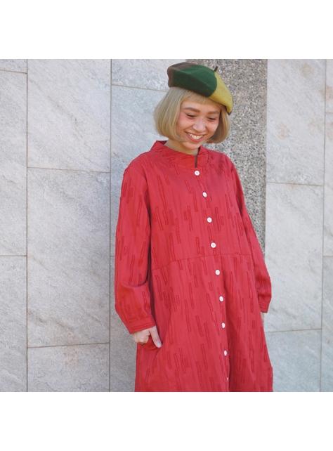 紅石榴毛線外套洋裝