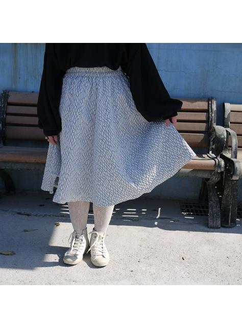 菱形密密縫不規則傘裙