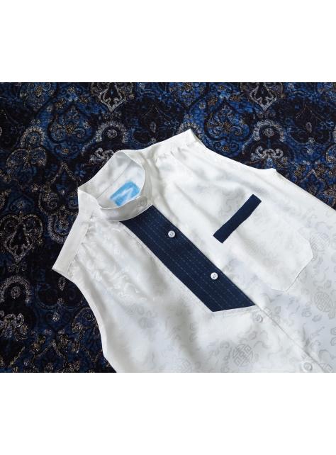 Lucid Dream『鉛白花紋無袖襯衫』