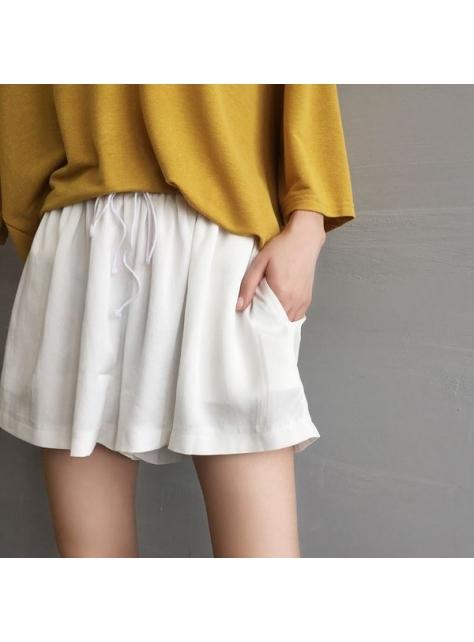 顯瘦夏季百搭寬口休閒短褲