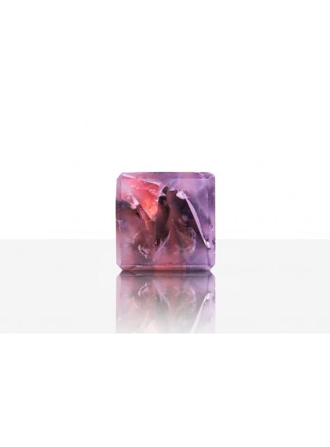 宇宙魔方皂(中性香水手工皂)-曠野森林/紫紅色