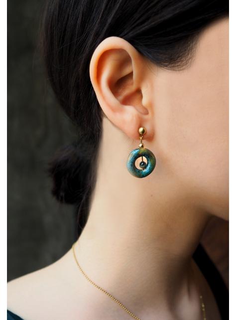海洋染陶耳環 - Ocean ' Pottery Earring