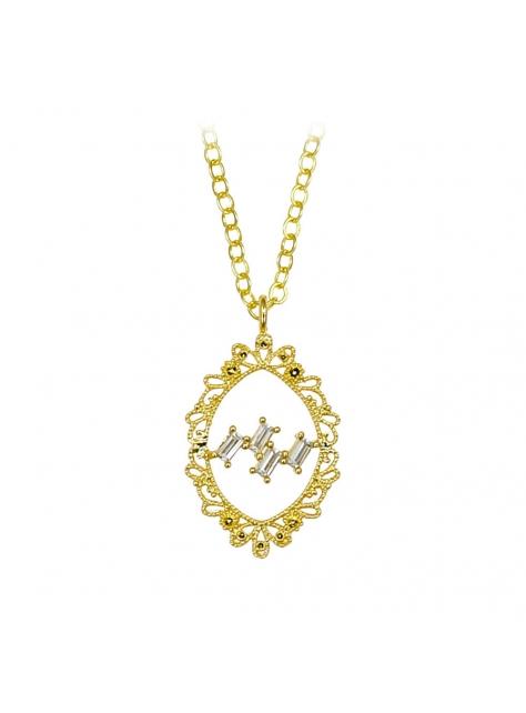 蕾絲奧。古典黃銅項鍊