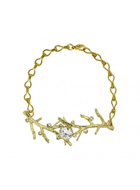 森。樹枝黃銅個性手鍊