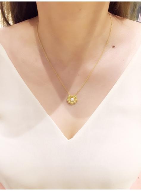 黃K金荷葉。珍珠墬