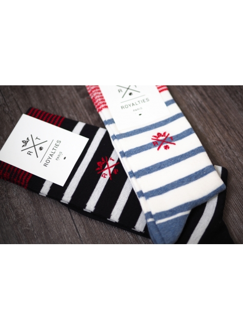 『情人節限定組』泰迪橫紋情侶襪款
