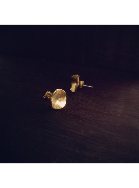 Cheeky 厚臉皮 -金工手工黃銅耳環 Brass earrings