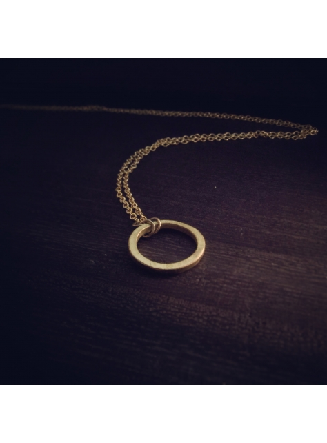 Circular 迴圈 -金工手工黃銅項鍊 Brass necklace