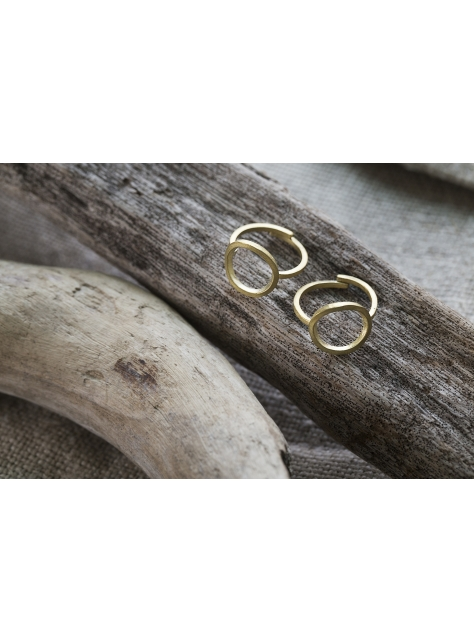 Circular 迴圈 -可調式金工手工黃銅戒指 Brass Ring